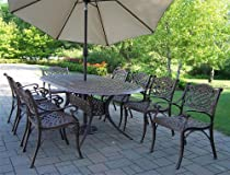 Hot Sale Mississippi 9-Pc Traditional Outdoor Dining Set