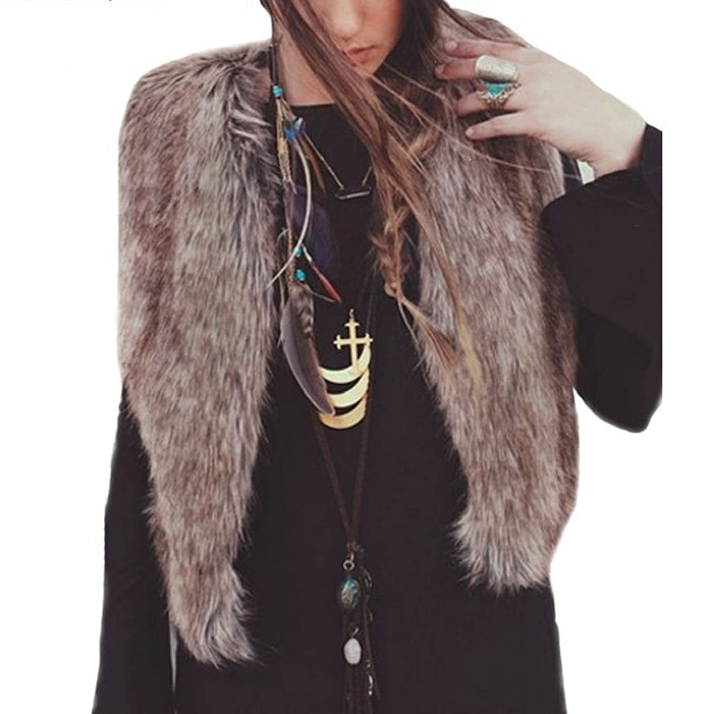 Tonsee Damen Weste ärmellos Coat Outerwear langes Haar Nachahmung Pelz Jacke Weste online kaufen