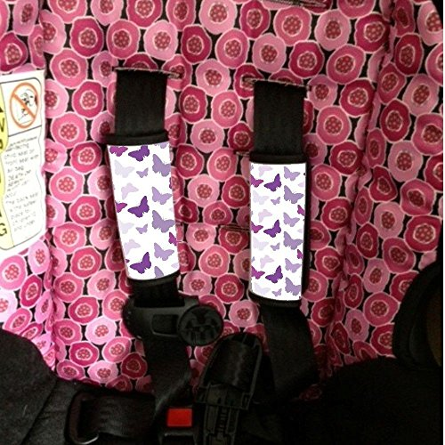 Baby Seat Strap Covers Purple Butterflies Sherrys Stock TM (Butterfly Car Seat Strap Covers compare prices)