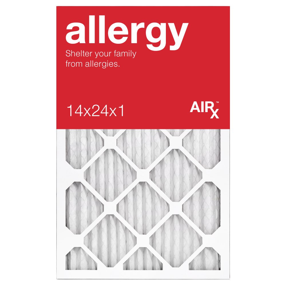 Best for Allergy Protection - AiRx ALLERGY 14x24x1 Air Filters - Box of 6 - Pleated 14x24x1 MERV 11 Air Filters, AC Filter, Furnace Filter, HVAC Filter - Energy Efficient