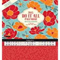 Orange Circle Studio 2015 Do It All 17-Month Magnetic Wall Calendar, Bold Blossoms (15546)