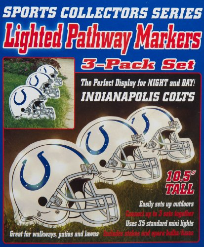 Indianapolis Colts Helmet Lighted Pathway Markers (Indianapolis Colts) at Amazon.com