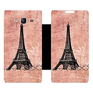 Skintice Designer Flip Cover with Vinyl wrap-around for Samsung Galaxy On5 , Design - eiffel tower