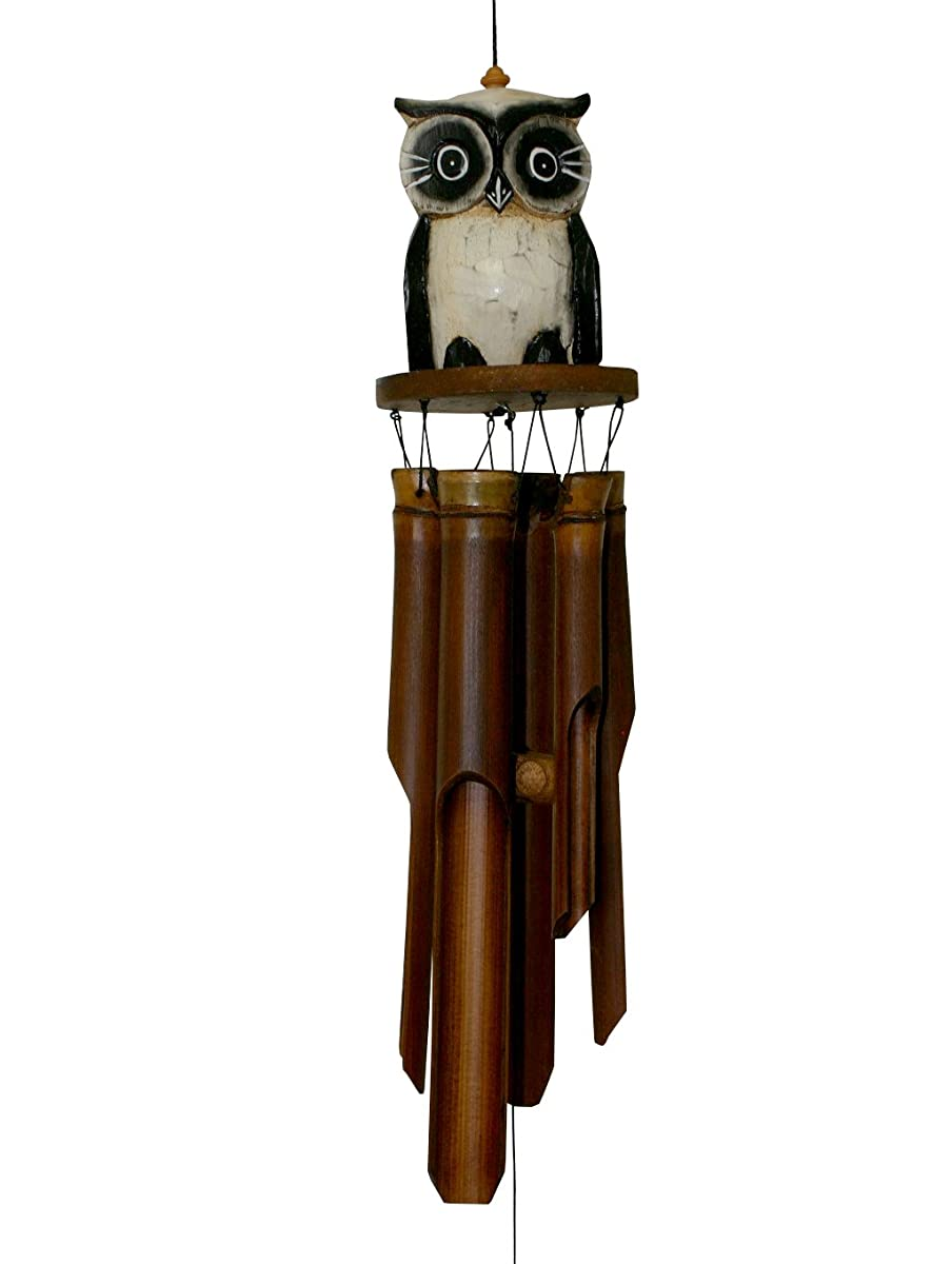 Cohasset 246 Tan Oscar Owl Bamboo Wind Chime