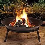Cast Iron Garden Fire Pit Basket Pati...