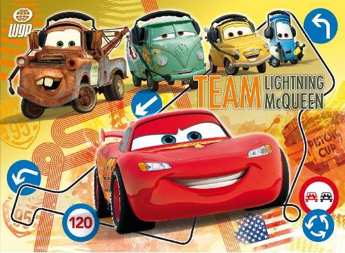 Clementoni - Puzzle 104 pièces - Cars 2 : Team Lightning McQueen