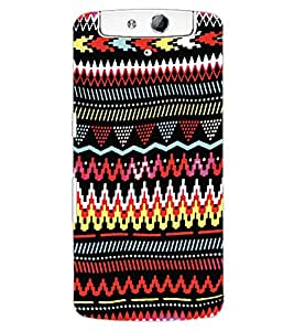 ColourCraft Tribal Pattern Design Back Case Cover for OPPO N1