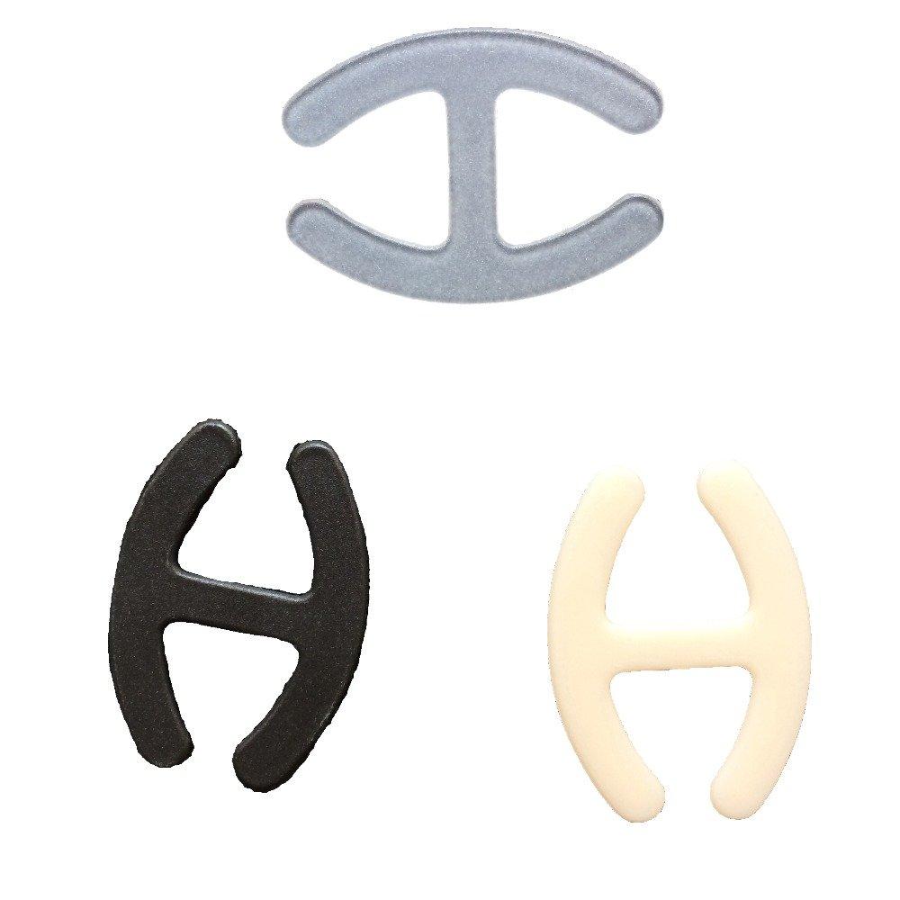9 Bra Strap Clips BH-Träger Anti-Rutsch in drei verschiedenen Farben 3x Natürliche 3x Schwarz 3x Durchsichtige von Boolavard ® TM