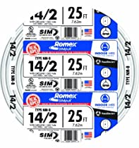 SouthWire 28827421 14/2WG NMB Wire 25-Foot