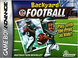 backyard football gba instruction booklet game boy advance manual