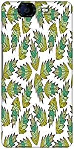 Snoogg A Seamless Leaf Pattern Designer Protective Back Case Cover For Micromax Canvas Knight A350