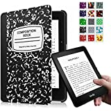 Fintie Kindle Voyage SmartShell Case - [The Thinnest and Lightest] Protective PU Leather Cover with Auto Sleep/Wake for Amazon Kindle Voyage (2014), Composition Book Black
