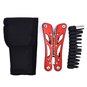 Remanker Multitool Plier 24 in 1 Portable Folding Plier with Knife Screwdriver Cutter Opener Stainless Steel Survival Tool for EDC Camping Hunting Hik