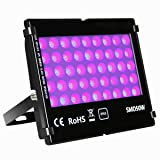 KINGBO 50W Black Light UV Lights,Outdoor LED Flood Light Waterproof for DJ Disco Night Clubs, Blacklight Party, Fluorescent Effect, Neon Glow, Glow In The Dark ,Aquariums and Other Entertainment Venue