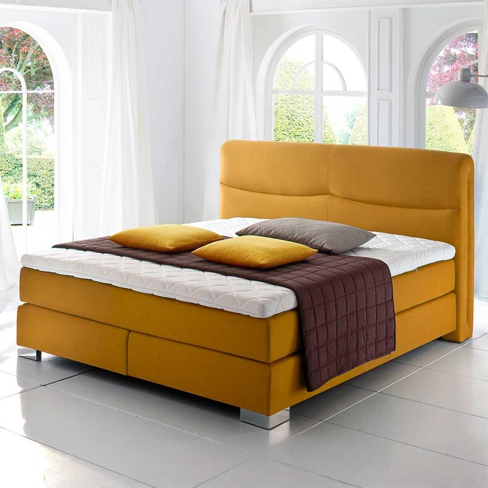 Boxbett in Gelb Matratze (3-teilig) Breite 184 cm Liegefläche 180×200 Pharao24 online kaufen