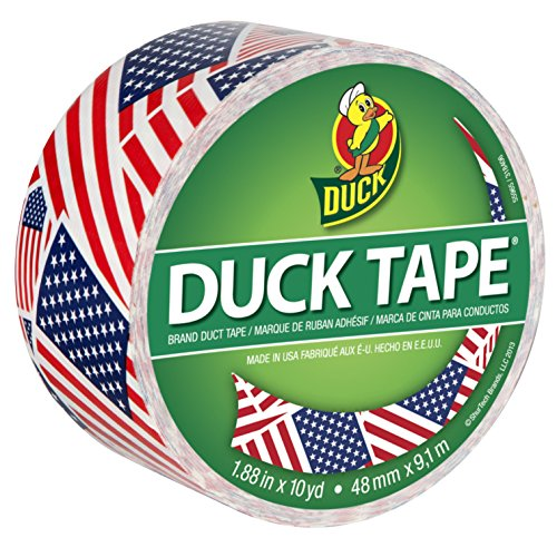 Duck Brand 283046 Printed Duct Tape, U.S. Flag, 1.88 Inches x 10 Yards, Single Roll (Duct Tape Amazon compare prices)