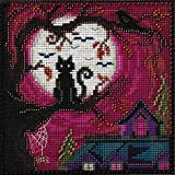 Moonstruck Beaded Counted Halloween Cross Stitch Kit Mill Hill MH141626 Buttons & Beads 2016 Autumn (Color: Multi)