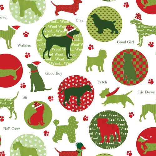 Jillson Roberts 1/2 Ream Christmas Gift Wrap, Christmas Dog, 416-Feet x 30-Inch (XB668.50)