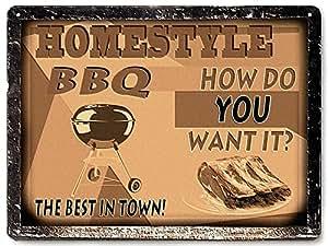 Barbecue Metal Sign Bbq Steak House Restaurant