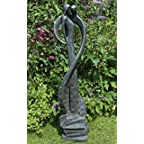 Large Contemporary Art Sculptures - Lovers Kiss Modern Garden Statue