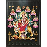 "Dolls Of India ""Navadurga"" Reprint On Paper - Unframed (29.21 X 22.86 Centimeters)"