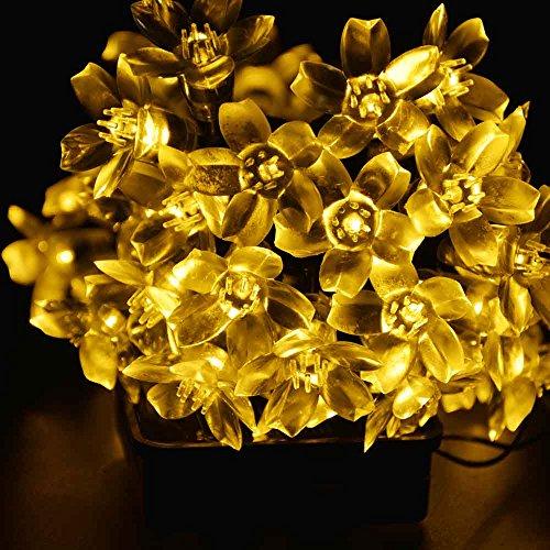 Ledertek decorative solar christmas lights white