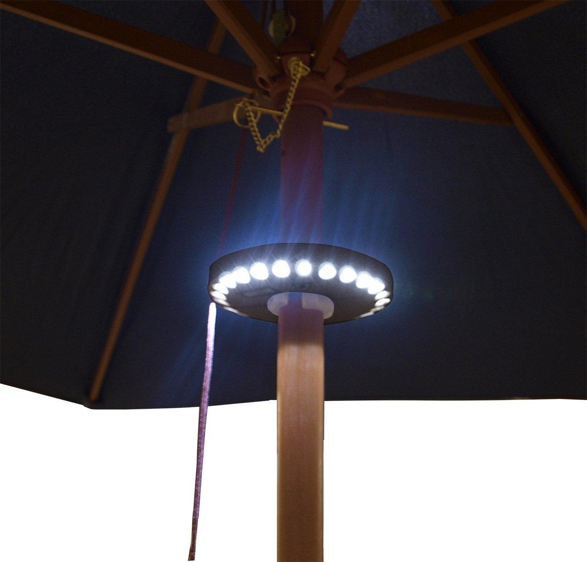 Sonnenschirmbeleuchtung mit 24 LED, Schirmstock 44-50mm, Batteriebetrieb günstig online kaufen