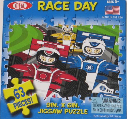 Race Day 63 Piece Jigsaw Puzzle - 1