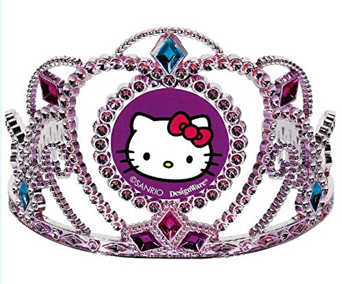 Adorable-Hello-Kitty-Rainbow-Party-Electroplated-Birthday-Tiara-Party-Wearable-Accessory-Favour-1-Piece-PinkPurple-3-12-x-4-12