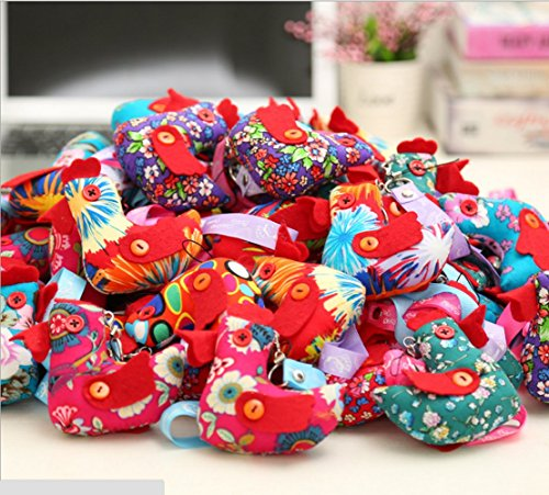 Hot Sale Chicken Cloth Doll Chinese Zodiac Rooster Christmas New Years Gift Key Bag Pendant Various Color 3.9