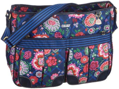 Oilily OCB0205 Shoulderbag A4, Damen Schultertaschen, Blau (Indigo 5000), 38 x 13 x 30 cm (B x H x T)