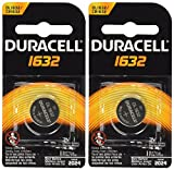 2 Pcs Duracell CR1632 1632 Car Remote Batteries