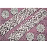 FOUR-C Lace Silicone Mat Cake Decorating Supplies Color Pink