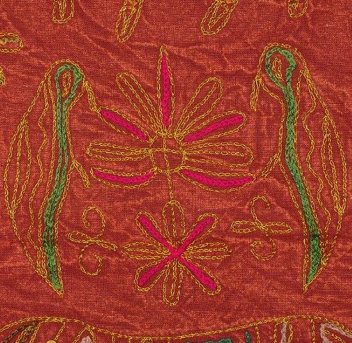 Imagen 4 de Wall Hanging algodón indio Tabla Tapestry Throw Adorna con bordados y lentejuelas Zari trabajo Tamaño 34 x 24 pulgadas