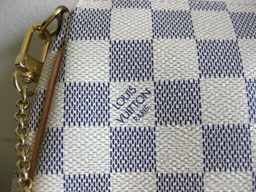 Louis Vuitton Authentic Louis Vuitton Inventeur Damier Azur Eva Clutch Bag Purse Evening Tote