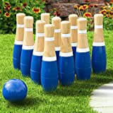 """Hey! Play! Wooden Lawn Bowling Set, 8"""""""