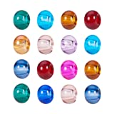 PH PandaHall 100pcs 15x10mm Rondelle Glass Large Hole European Beads Mixed Color Bead Spacers for DIY Snake Chain Charm Bracelet Making with 5mm Hole (Color: Multicolor, Tamaño: 15*10mm)