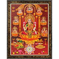 Avercart Goddess Laxmi / Shri Lakshmi / Laxmiji / Goddess Of Wealth / Laxmi With 8 Forms Of Her Poster 12x16 Inch...