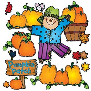 Carson Dellosa D.J. Inkers Pumpkin Patch Bulletin Board Set (610048)