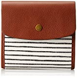 Fossil Haven Small Triple Gusset Wallet, Black Stripe, One Size