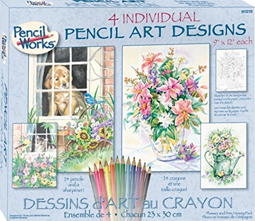 Dimensions Needlecrafts Paintworks/Pencil by Number, Flower and Pets Variety Pack