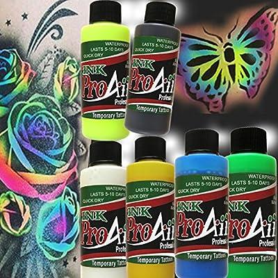 Body Paint - ProAiir Temporary Tattoo Ink - 2.1 oz (60ml) Bottles