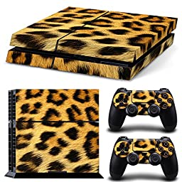 Gam3Gear Pattern Series Decals Skin Vinyl Sticker for PS4 Console & Controller - Leopard