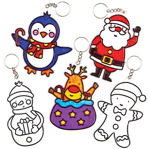 christmas-suncatcher-keyrings-bag-danglers-for-children-to-decorate-and-wear-pack-of-5