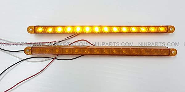 12 14 led light strip amberamber for kenworth peterbilt 12 14 led light strip amberamber for kenworth peterbilt freightliner fld pair aloadofball Image collections