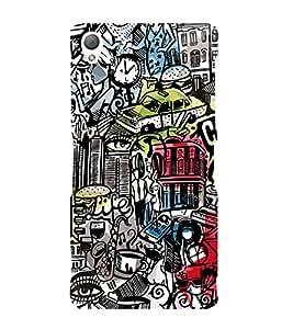 Citi Wine Disco Music 3D Hard Polycarbonate Designer Back Case Cover for Sony Xperia Z3 :: Sony Xperia Z3 D6653 D6603