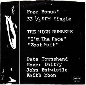 i'm the face / zoot suit 45 rpm single