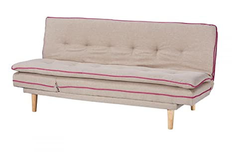 CAGUSTO Schlafsofa Borris beige Bettsofa 2-Sitzer Funktionssofa Couch im skandinavisch modernem Design