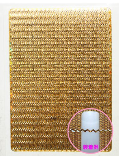 ネイルシール メタルパーツのようなネイルシール ウエーブゴールド ジェルネイル貼るだけアート