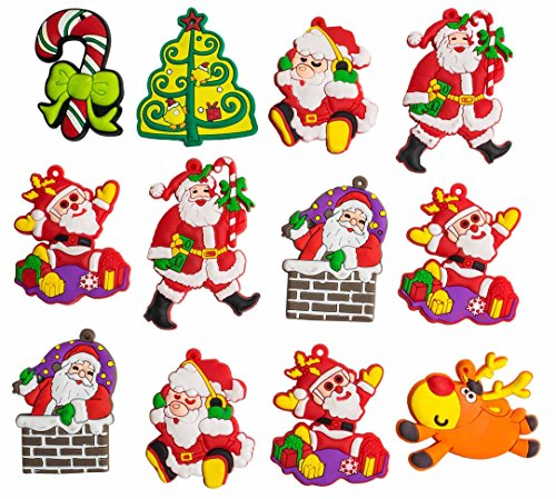A2S Christmas Characters - Decorative Silicone Magnet Christmas Figurines shutterproof 12 pieces set Assorted (Mini Mini Fridge Teal compare prices)